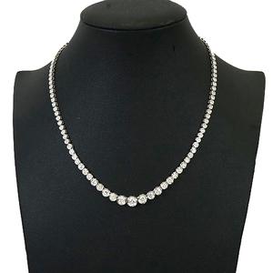 ネックレス テニスネックレス ダイヤモンド 5.13 ct Pt850 プラチナ