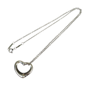 Tiffany Open Heart Silver 925 Casual Neck Chain Necklace (Silver)