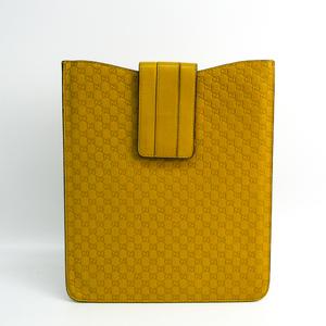 グッチ(Gucci) タブレット ケース iPad 対応 ダークイエロー マイクログッチシマ 小物入れ 256575