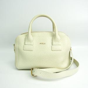 Furla Capriccio S Satchel Women's Leather Handbag,Shoulder Bag Off-white