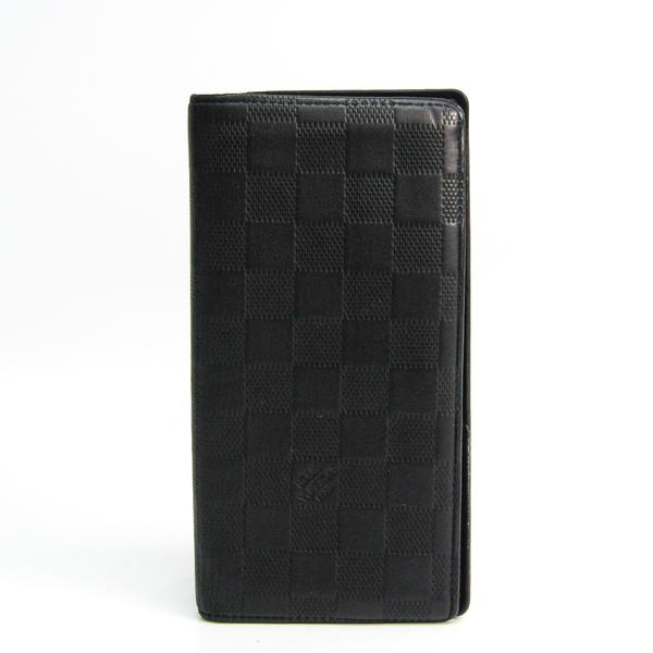ルイ・ヴィトン(Louis Vuitton) ダミエアンフィニ ポルトフォイユ・ブラザ N63010 メンズ ダミエアンフィニ 長財布(二つ折り) オニキス