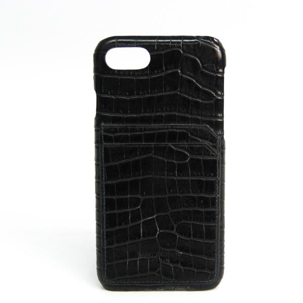 サン・ローラン(Saint Laurent) iPhone 8 ケース レザースマホ・携帯ケース iPhone 8 対応 ブラック