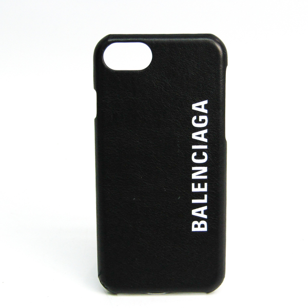 バレンシアガ(Balenciaga) ロゴ iPhone 8 ケース 585980 レザースマホ・携帯ケース iPhone 8 対応 ブラック,ホワイト