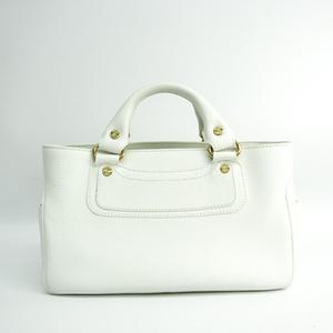 Celine Boogie Women's Leather Handbag White