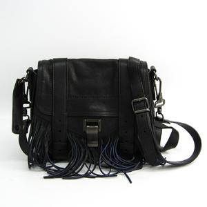 プロエンザ・スクーラー(Proenza Schouler) PS1 H00138 L029 レディース レザー ショルダーバッグ ブラック,ブルー