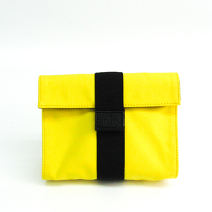 Gucci Accessory Case 0390991 Unisex Canvas,Leather Pouch Black,Yellow