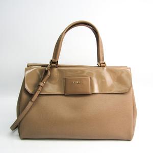 Furla Women's Leather Handbag,Shoulder Bag Beige