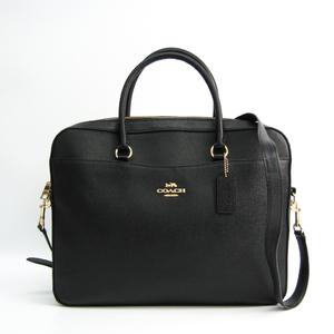 コーチ(Coach) Laptop Bag F39022 ユニセックス レザー ブリーフケース,ハンドバッグ,ショルダーバッグ ブラック