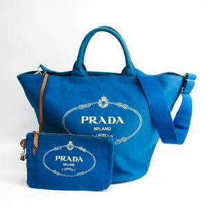 プラダ(Prada) カナパ バケツ型 レディース カナパ ショルダーバッグ,トートバッグ ブルー