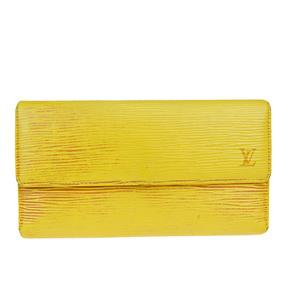 ルイ・ヴィトン(Louis Vuitton) エピ ポルトフォイユ インターナショナル  M63389 レザー 長財布(三つ折り) イエロー