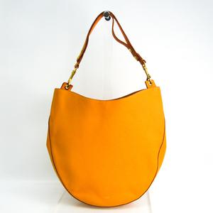 Celine Hobo Women's Leather Shoulder Bag Yellow