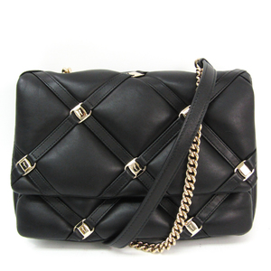 Salvatore Ferragamo Chain Women's Leather Shoulder Bag Black