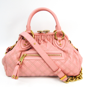 Marc Jacobs Mini Stam Quilting C3113001 Women's Leather Handbag,Shoulder Bag Pink