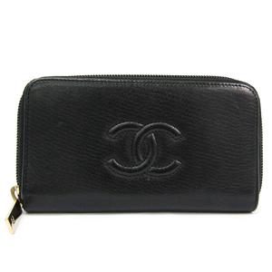 シャネル(Chanel) ココマーク レディース レザー 中財布(二つ折り) ブラック