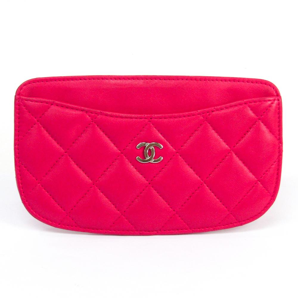 シャネル(Chanel) マトラッセ レザー カードケース ピンク