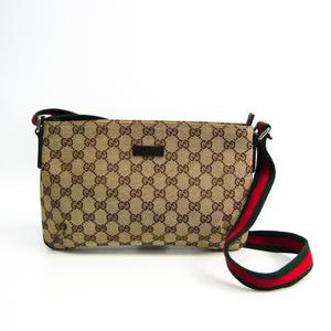 グッチ(Gucci) GGキャンバス シェリーライン 189749 ユニセックス GGキャンバス,レザー ショルダーバッグ ベージュ,ブラウン,グリーン,レッド