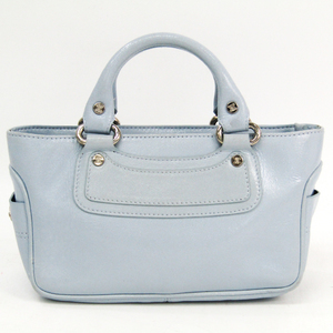 Celine Boogie Mini Women's Leather Handbag Light Blue