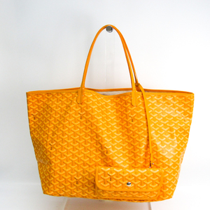 Goyard Saint Louis GM Women's Coated Canvas,Leather Tote Bag Yellow