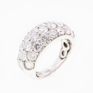 リング 天然ダイヤモンド 3.00 ct Pt900 プラチナ 指輪 未使用