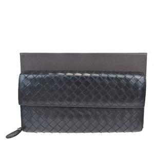 ボッテガ・ヴェネタ(Bottega Veneta) イントレチャート レザー 財布 ブラック