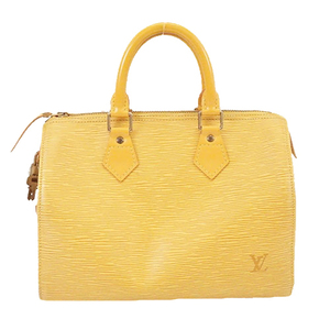 Auth Louis Vuitton Epi M43019 Women's Handbag Jaune