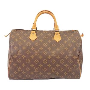 Auth Louis Vuitton Monogram Speedy 35 M41107 Women's Boston Bag,Handbag Brown