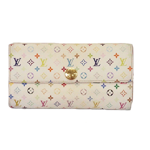 Auth Louis Vuitton Monogram Multicolore M93744  Women's Long Wallet (bi-fold)