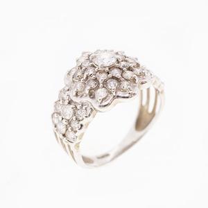 Auth Ring Diamond 1.200 ct Pt900 Platinum