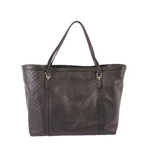 Auth Gucci MicroGuccissima 309613 Women,Unisex,Men Handbag,Tote Bag Black