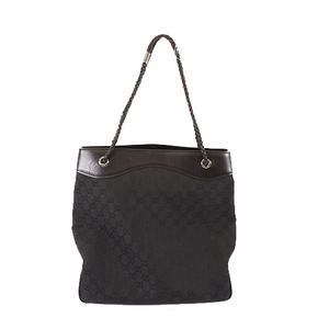 Auth Gucci GG Canvas 109141 Women's Tote Bag Black
