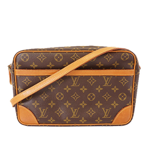 Auth Louis Vuitton Monogram Trocadero30 M51272 Women's Shoulder Bag Brown