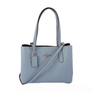 Auth Coach 2Way Bag F73278 Women's Leather Handbag,Shoulder Bag Light Blue