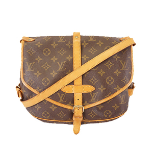 Auth Louis Vuitton Monogram M42256 Women's Shoulder Bag Brown