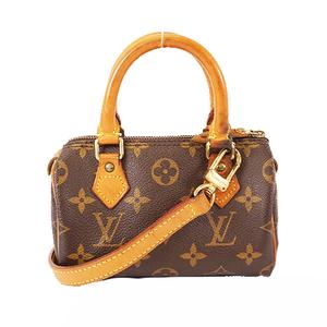 Auth Louis Vuitton Monogram MiniSpeedy M41534 Women's Handbag,Pochette