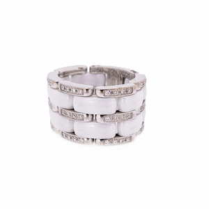 シャネル リング ウルトラコレクション ワイドラージウルトラリング ダイヤモンド ホワイトセラミック  K18WG ホワイトゴールド 指輪