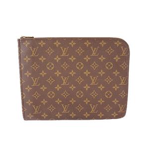 Auth Louis Vuitton Monogram Posh Documan M53400 Men's Clutch Bag