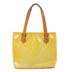 Auth Louis Vuitton Monogram Vernis M91055 Women's Handbag,Tote Bag Lime Yellow