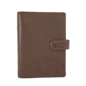 Auth Louis Vuitton Taiga Planner Cover Grizzly Agenda MM R20228