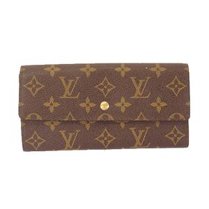 Louis Vuitton Monogram M61725 Women's Long Wallet (bi-fold) Brown