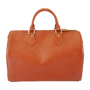 Auth Louis Vuitton Epi M43003 Women's Boston Bag,Handbag Kenyan Brown