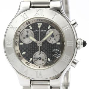 カルティエ (CARTIER) マスト21 クロノスカフ ステンレススチール クォーツ メンズ 時計 W10172T2