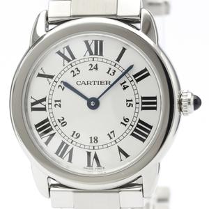 カルティエ(Cartier) ロンドソロ クォーツ ステンレススチール(SS) レディース ドレスウォッチ W6701004