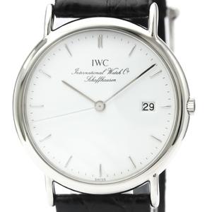 【IWC】ポートフィノ ステンレススチール レザー クォーツ メンズ 時計 IW333106