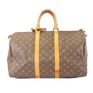 Auth Louis Vuitton Monogram M41428 Men,Women,Unisex Boston Bag Brown