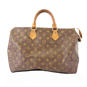 Auth Louis Vuitton Monogram Speedy 35 M41107 Women's Boston Bag,Handbag Brown