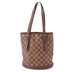 Auth Louis Vuitton Damier N42240 Shoulder Bag Brown,Ebene