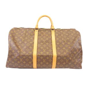 Auth Louis Vuitton Monogram M41424 Men,Unisex,Women Boston Bag Brown