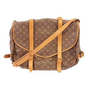 Auth Louis Vuitton Monogram M42252 Women's Shoulder Bag Brown