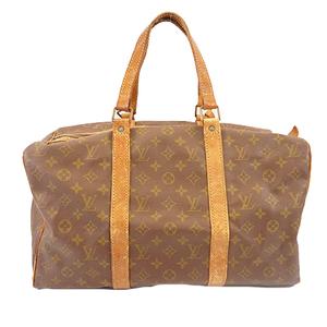 Louis Vuitton Monogram M41624 Men Women Unisex Boston Bag Brown