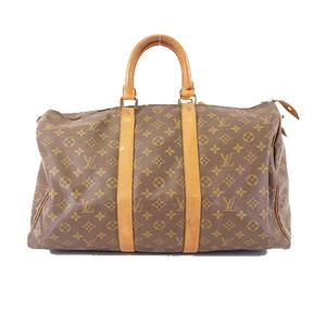 Louis Vuitton Monogram M41428 Men Women Unisex Boston Bag Brown